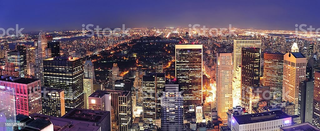 Central Park panorama royalty-free stock photo