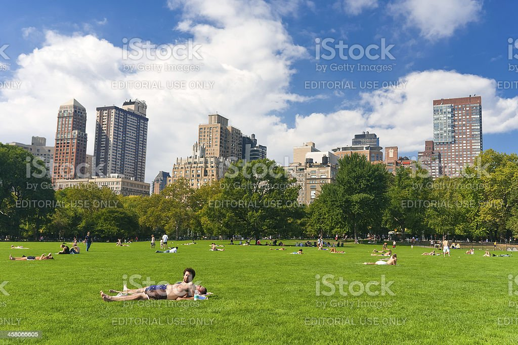 Central park royalty-free stock photo