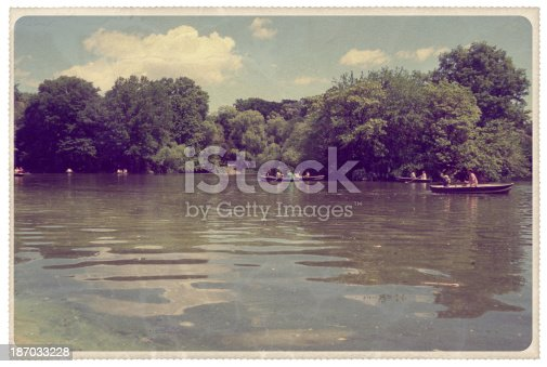 Retro-styled postcard of The Ramble and The Lake in New York City's central park -- all artwork is my own...For hundreds of similar vintage postcards from around the world, click the banner below.