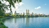 Central Park Reservoir and Upper West Side Manhattan