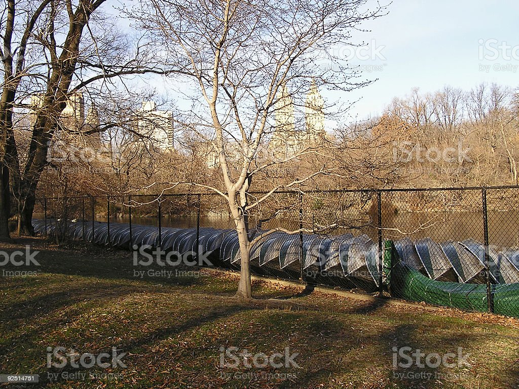central park scenery 1 stock photo