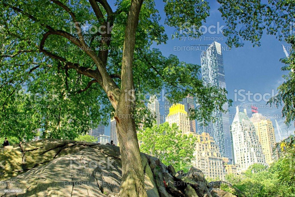 Arranha-céus do Central Park - Foto de stock de Arquitetura royalty-free