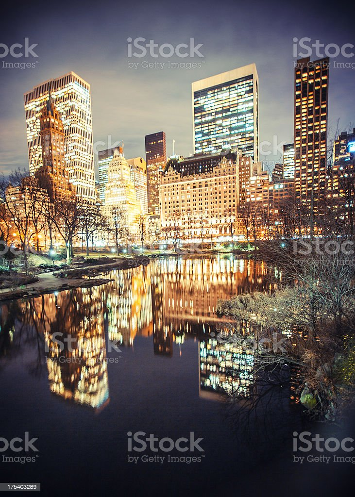 Central Park view. stock photo
