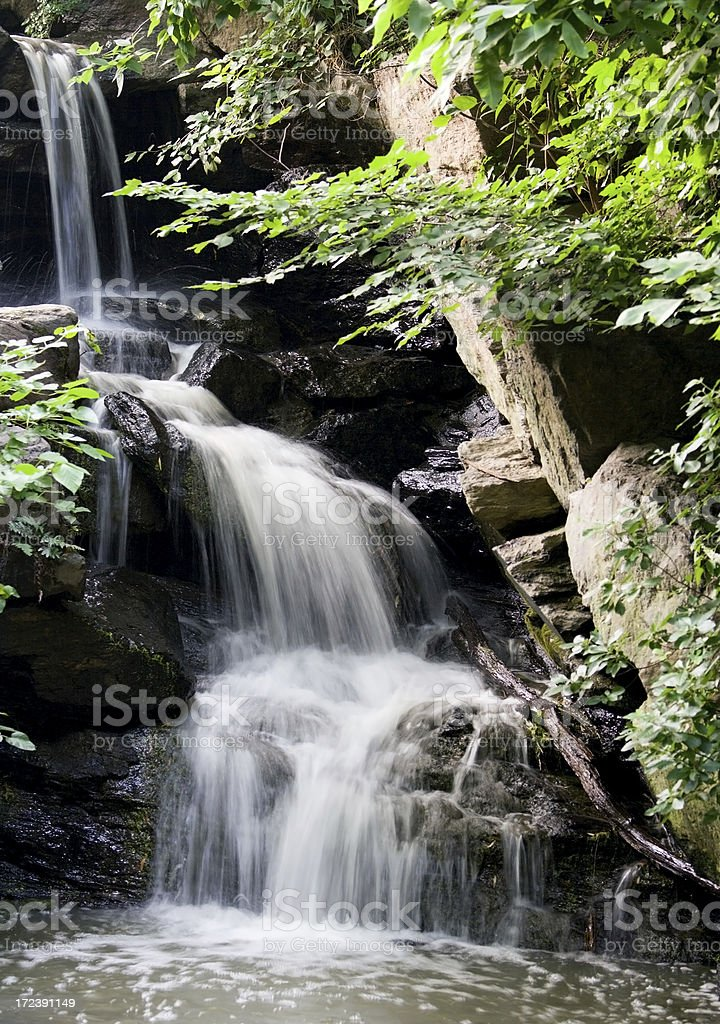 Central Park Waterfall royalty-free stock photo