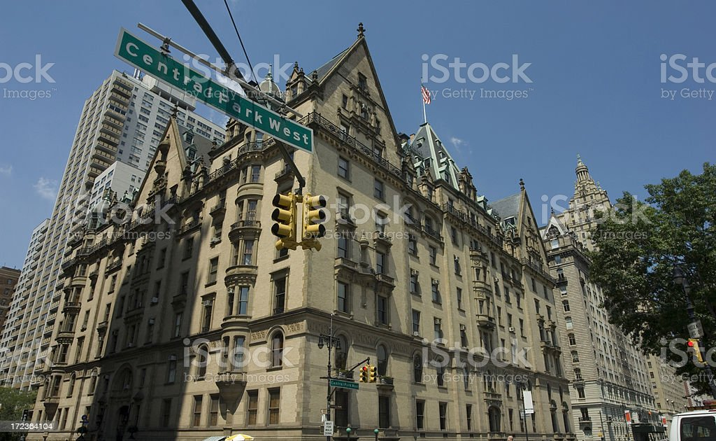 Central Park West stock photo