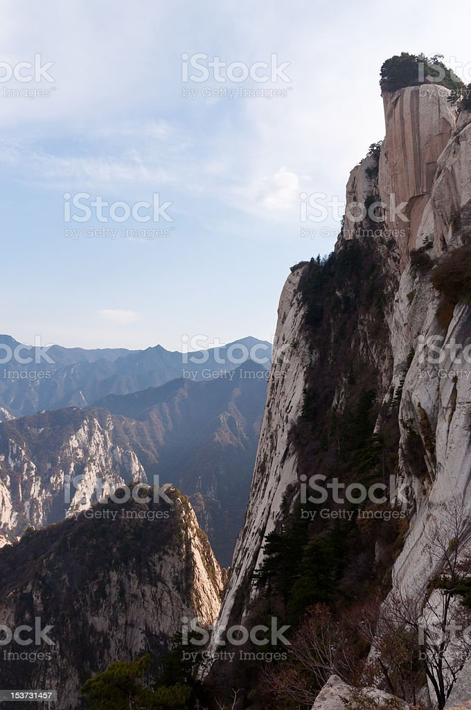 Central peak, Hua Shan mountain royalty-free stock photo