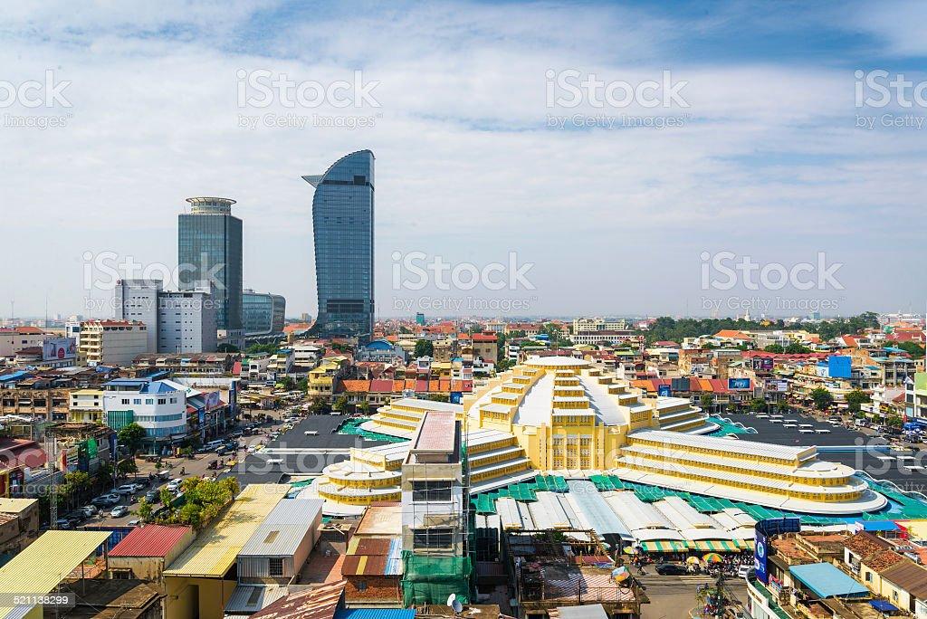central phnom penh in cambodia stock photo