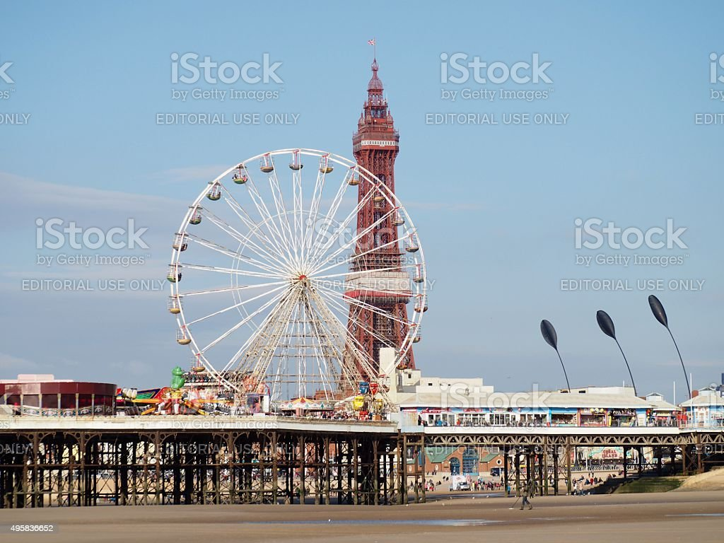 Central pier,Blackpool,UK stock photo
