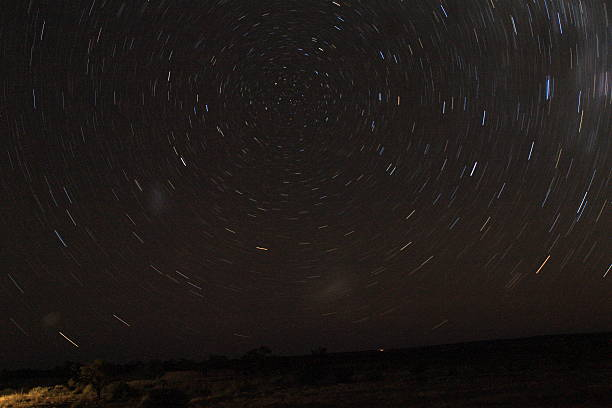 Central point of southern night sky stock photo
