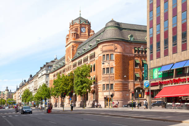 Central Post Office Building in Stockholm stock photo