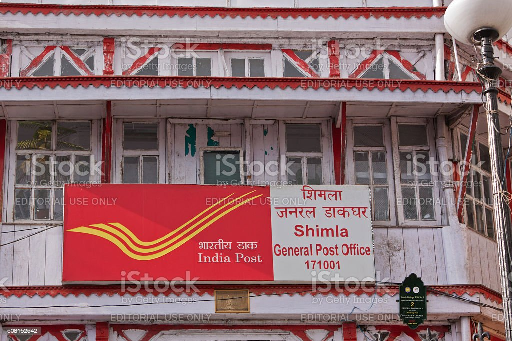 Central post office in Shimla built during British colonial rule stock photo
