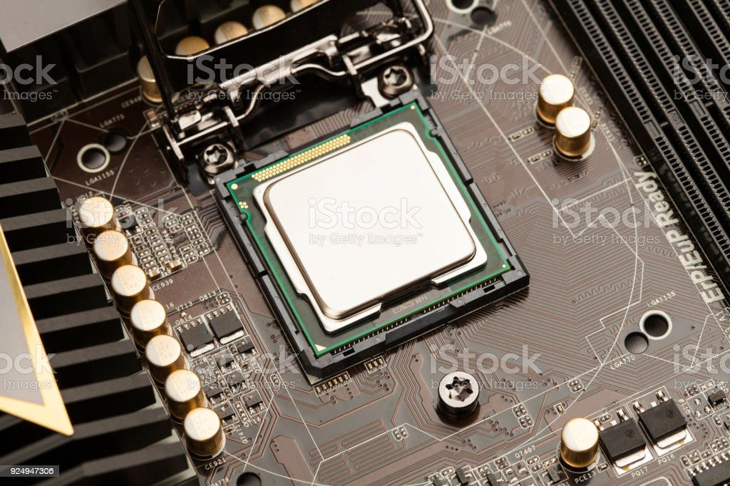 Central processing unit. CPU royalty-free stock photo