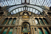 Central railway station (Antwerpen-Centraal) the main train station in Antwerp, Belgium.