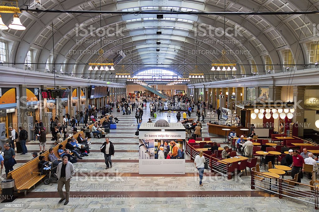 Central Railway Station in Stockholm, Sweden stock photo