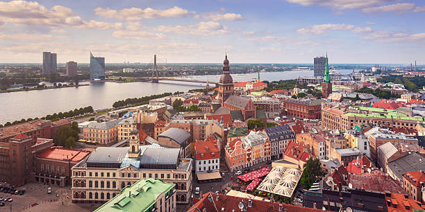 Central Riga, Latvia stock photo