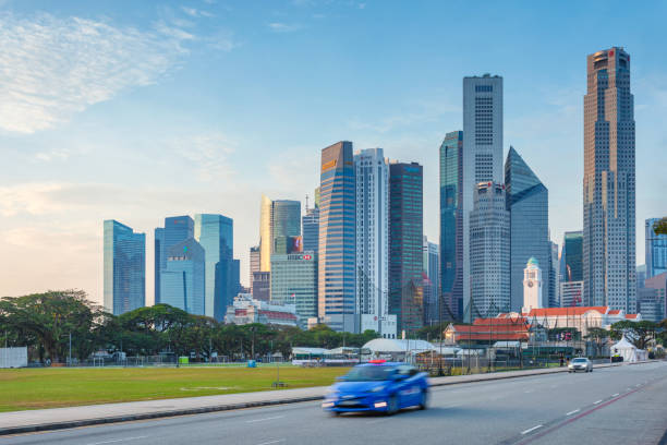 Central Singapore stock photo