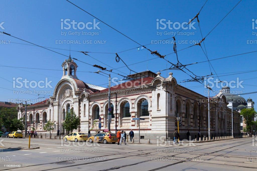 Central Sofia Market Hall stock photo