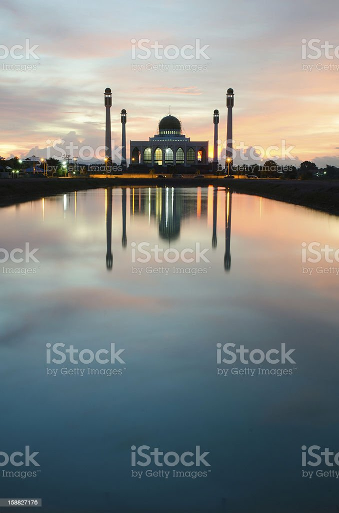 Central Songkhla Mosque royalty-free stock photo