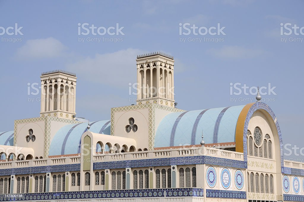 Central Souq in Sharjah stock photo