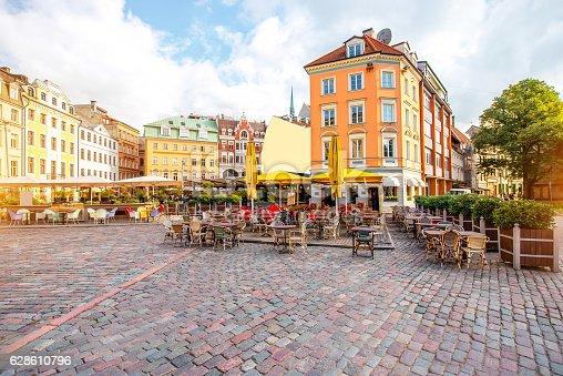 istock Central square in Riga 628610796
