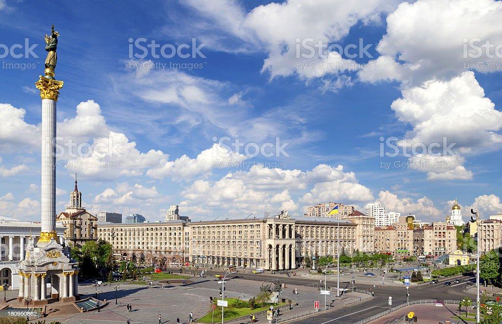 Central square of Kiev, Ukraine stock photo