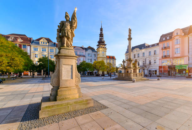 Central square of Ostrava Czech Republic Central square of Ostrava Czech Republic, Europe. brno stock pictures, royalty-free photos & images