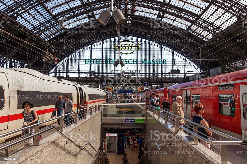 Central Station in Cologne, Germany stock photo