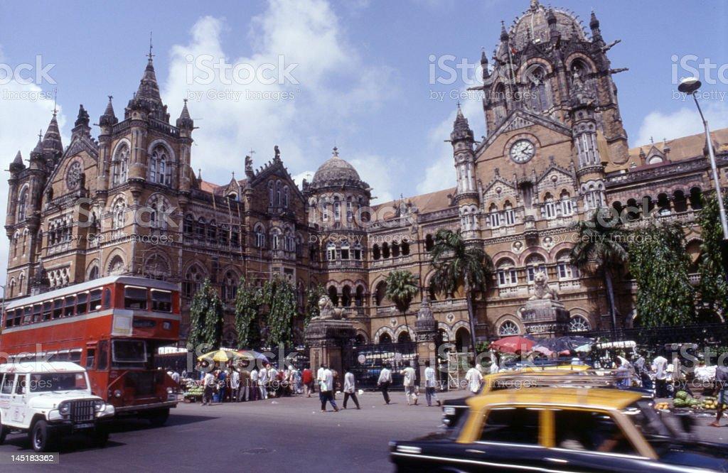 Central Station Mumbai stock photo