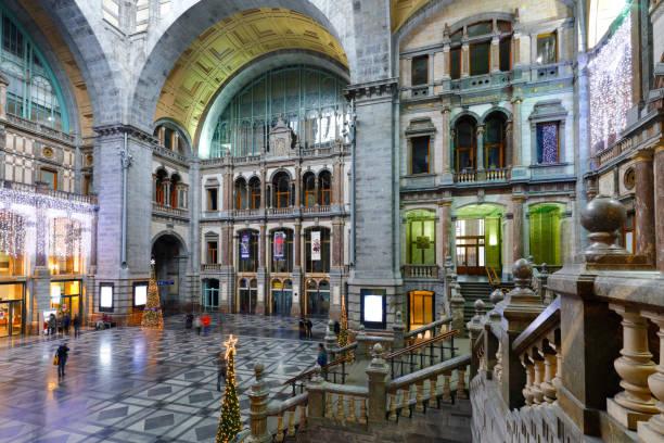 Central Station of Antwerp, Belgium stock photo