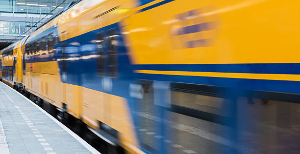 NS Central Station Utrecht, Intercity Train​​​ foto