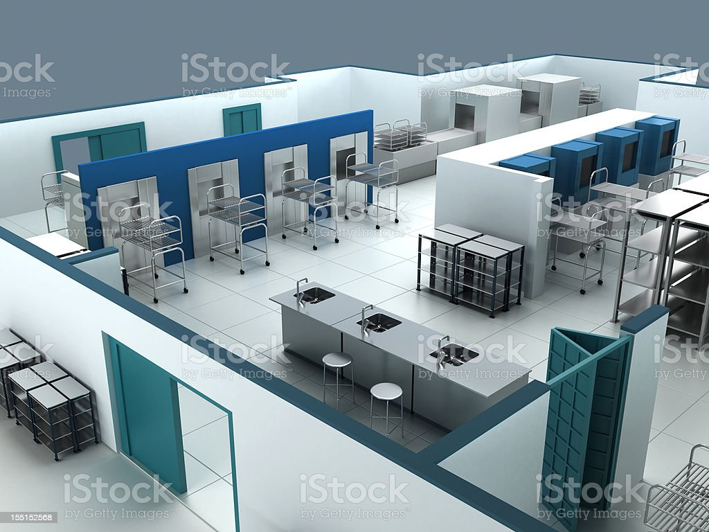 Central Sterile Supply Department stock photo