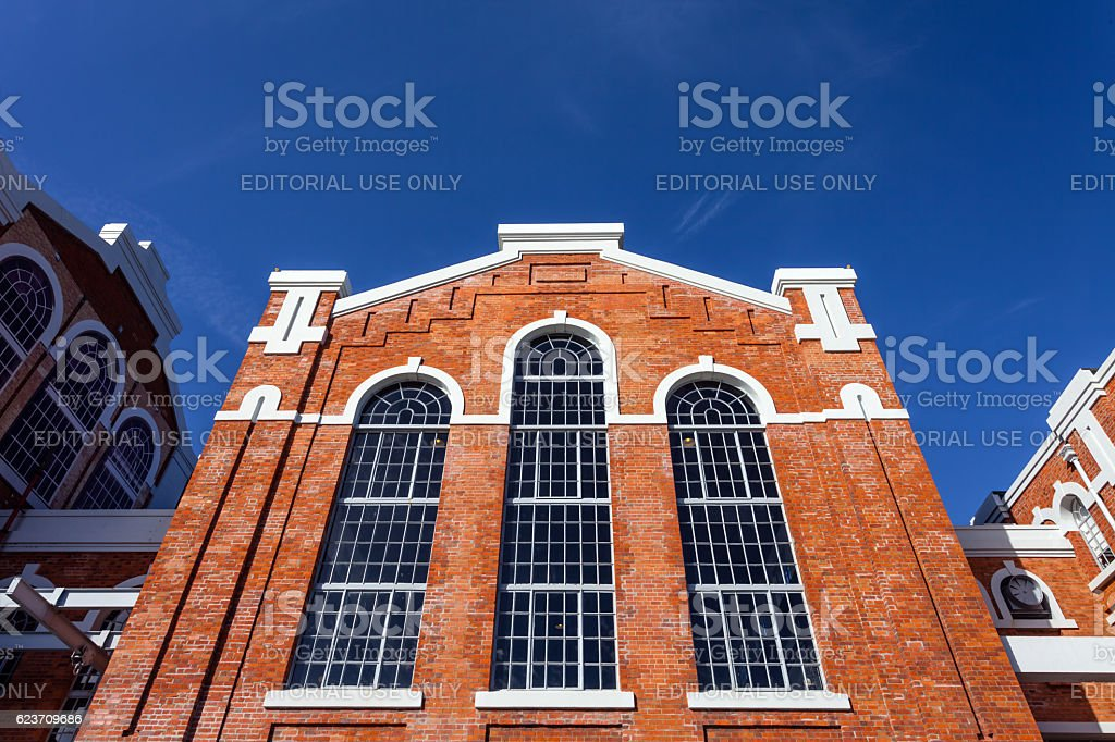Central Tejo, early 20th century power plant. Lisbon stock photo