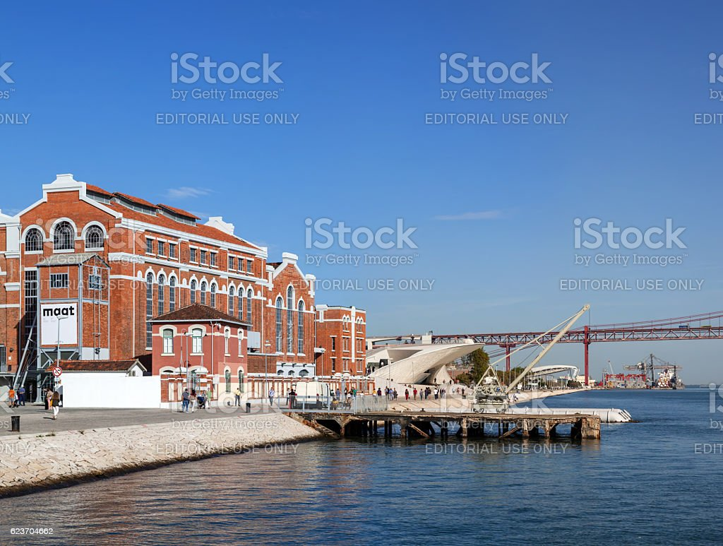 Central Tejo, historical power plant and Electricity Museum stock photo