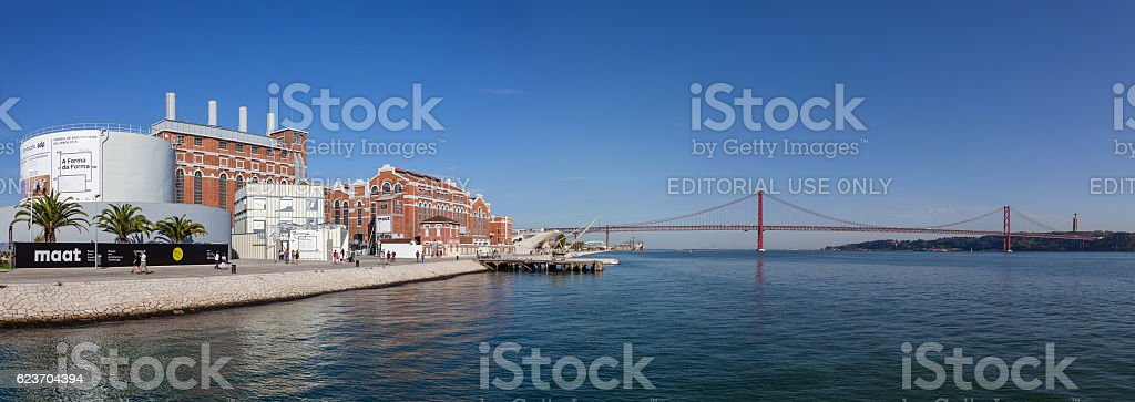 Central Tejo, the historical power plant stock photo
