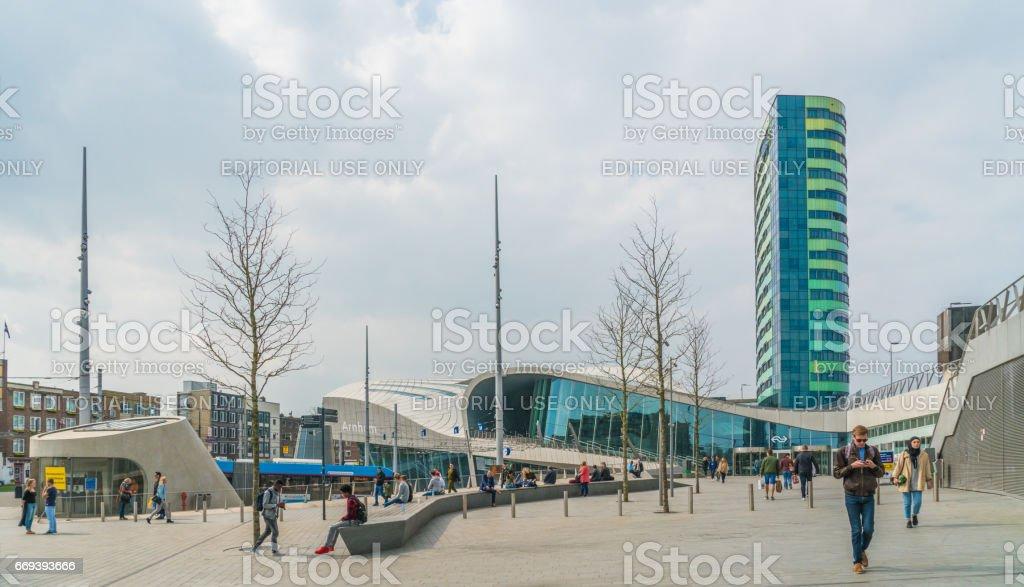 central train station in Arnhem stock photo