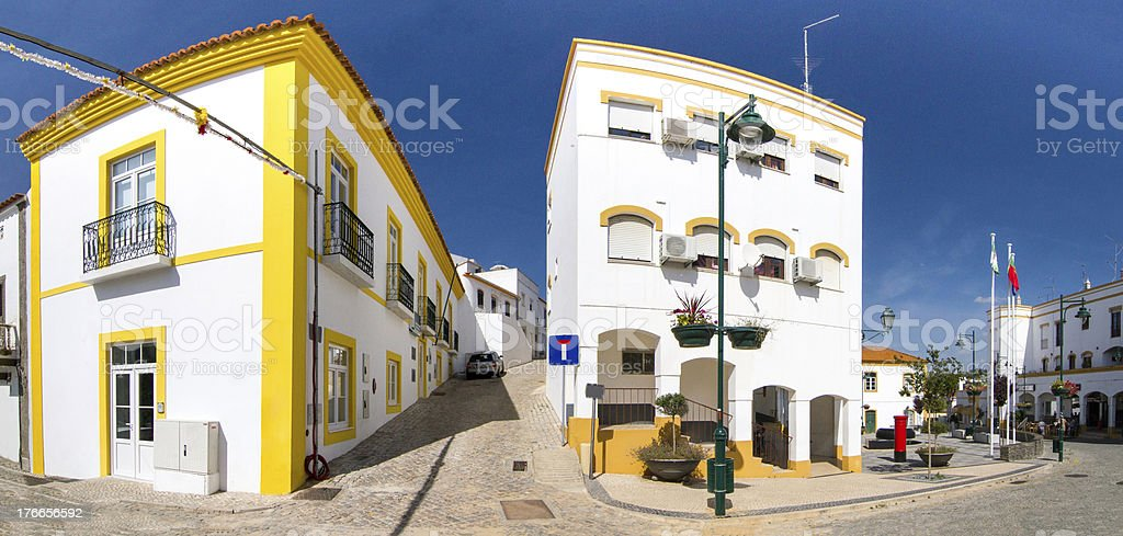 central urban plaza on the Alcoutim town royalty-free stock photo