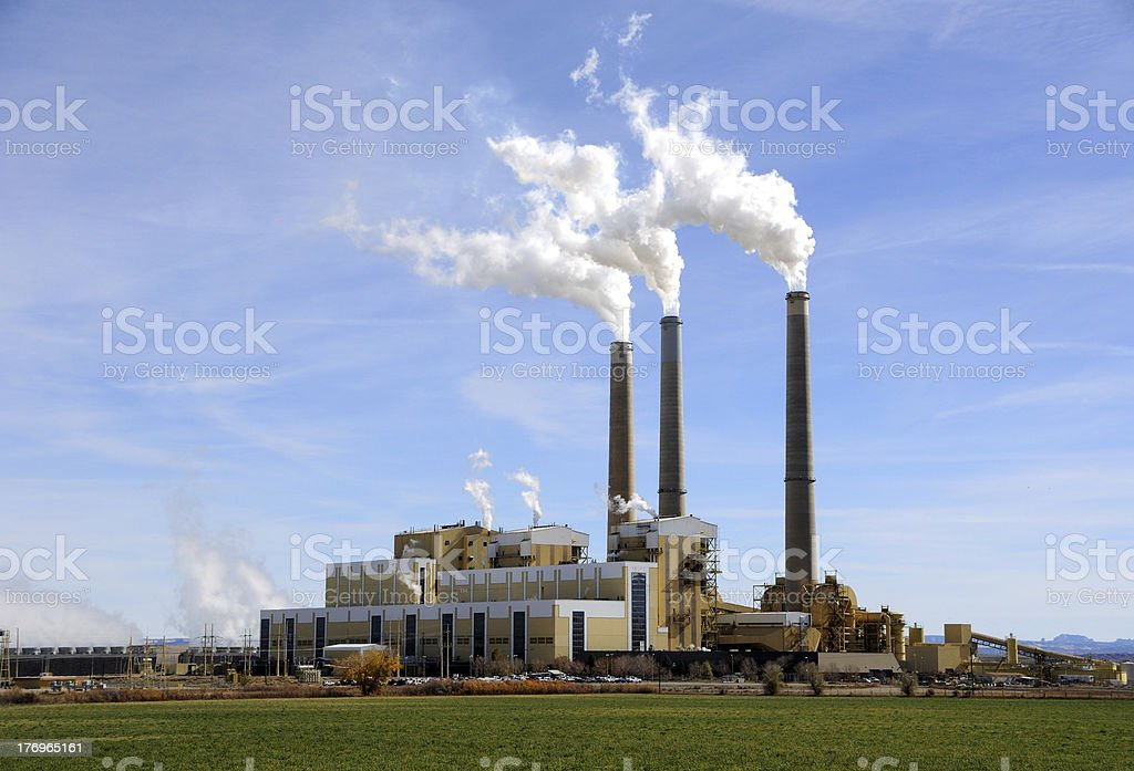 Central Utah Coal-Fired Power Plant stock photo