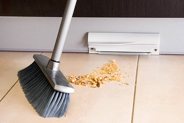 Central vacuum series - automatic dustpan stock photo