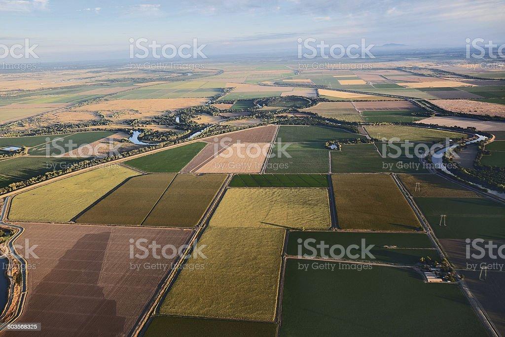 Central Valley near Sacramento stock photo