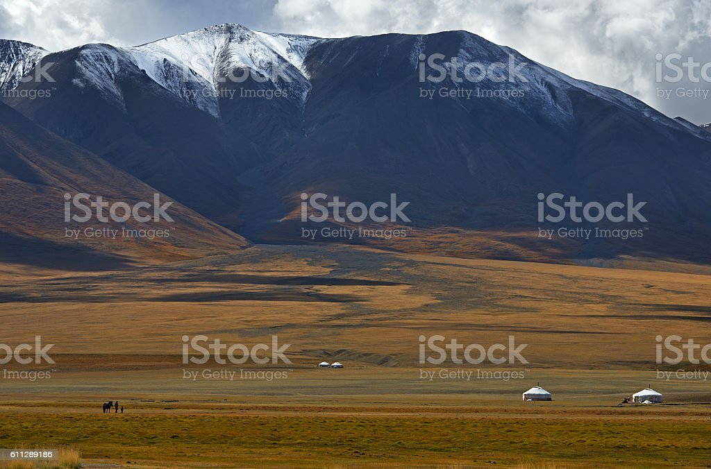 Central-Asian landscape stock photo