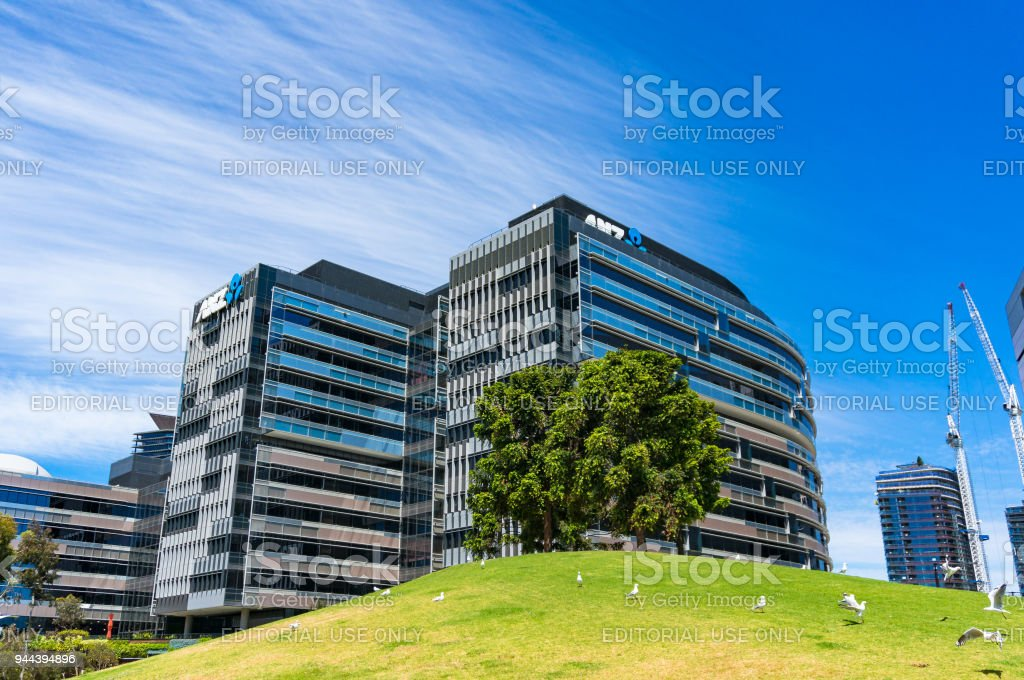 ANZ Centre bank corporate office buildings in Docklands stock photo