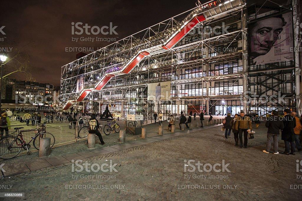 Centre George Pompidou by night, Paris stock photo