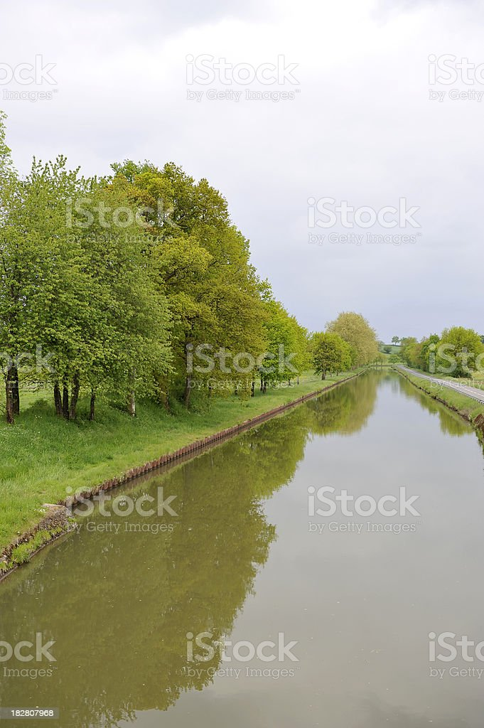Centre of Burgundy canal stock photo