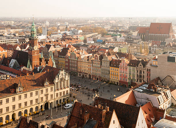 Centre of Wroclaw, Poland stock photo