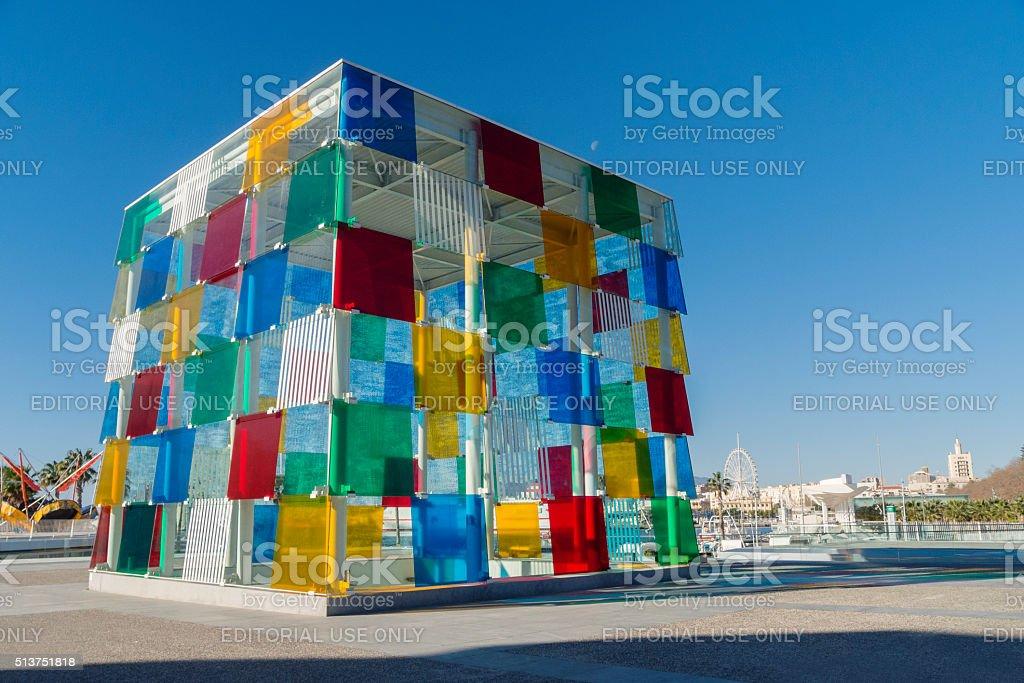 Centre Pompidou Málaga - El Cubo stock photo