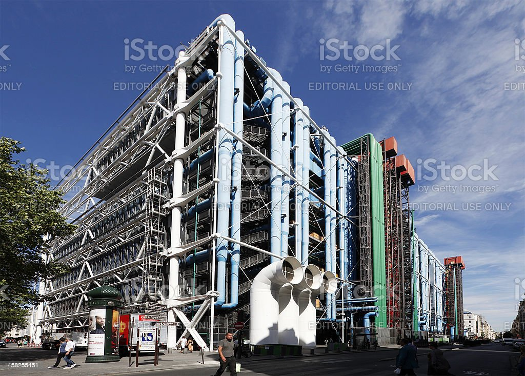 Centre Pompidou stock photo