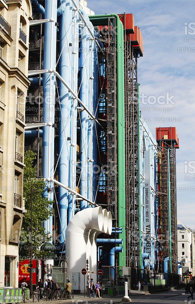 Centre Pompidou royalty-free stock photo
