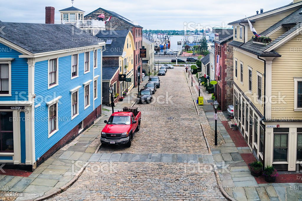 Centre Street, New Bedford stock photo