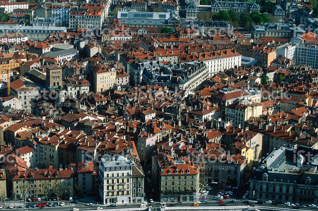 Centre ville de Grenoble royalty-free stock photo