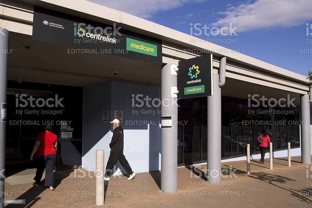 Centrelink and Medicare stock photo